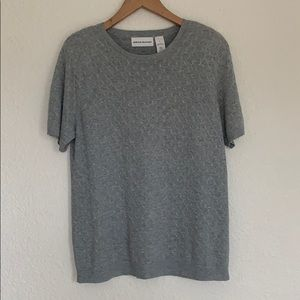 Alfred dunner short sleeve sweater-M